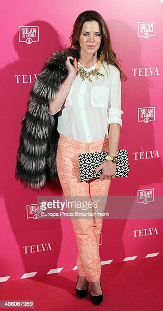 Amelia Bono attends 'T de Telva' Beauty awards 2014 at the Palace Hotel on January 30 2014 in Madrid Spain