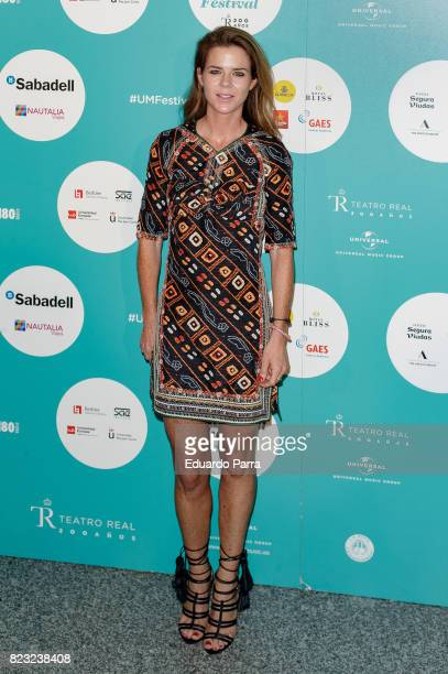 Amelia Bono attends the David Bisbal concert photocall at Royal Theatre on July 26 2017 in Madrid Spain