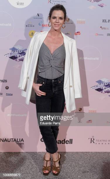 Amelia Bono attends the Pablo Lopez concert photocall at Royal Theatre on July 28 2018 in Madrid Spain