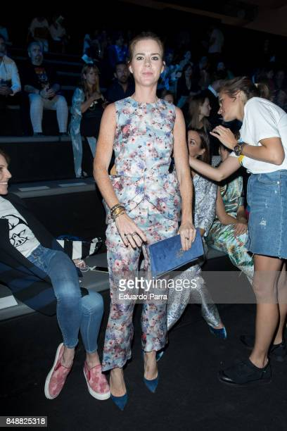 Amelia Bono is seen at the The 2nd Skin Co show during MercedesBenz Fashion Week Madrid Spring/Summer 2018 at Ifema on September 15 2017 in Madrid...