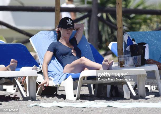 Amelia Bono is seen on August 15 2018 in Marbella Spain