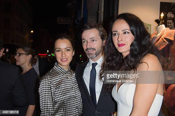 Amelia Bono Manuel Martos and Monica Estarreado attend the 'Dolores Promesas' Opening Store in Paris on October 31 2014 in Paris France