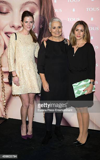 Amelia Bono, Rosa Oriol and Alejandra Martos attend the 'Tender Stories' campaign presentation photocall at TOUS flagship store on November 25, 2014...