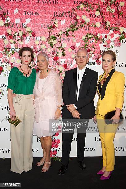 """Amelia Bono, Rosa Oriol, Salvador Tous and Ana Rodriguez attend the presentation of the new fragance """"Rosa"""" at the Ritz Hotel on April 23, 2013 in..."""