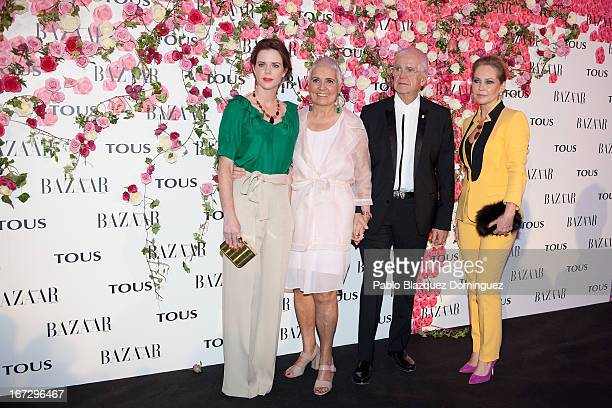 Amelia Bono, Rosa Oriol, Salvador Tous and Ana Rodriguez attend the presentation of the new fragrance 'Rosa' at Ritz Hotel on April 23, 2013 in...