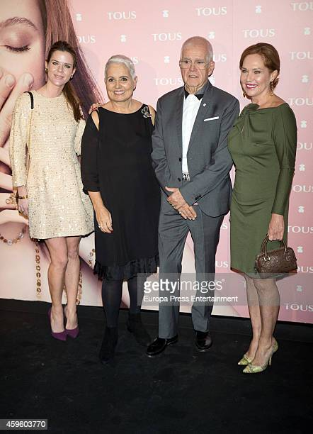 Amelia Bono, Rosa Oriol, Salvador Tous and Ana Rodriguez attend the 'Tender Stories' campaign presentation photocall at TOUS flagship store on...