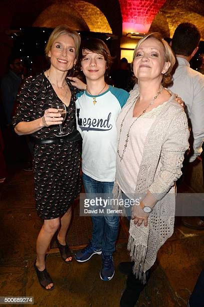 Amelia Bullmore Alfie Friedman and Maria Friedman at the After Party for the press night performance of 'A Christmas Carol' at the Noel Coward...