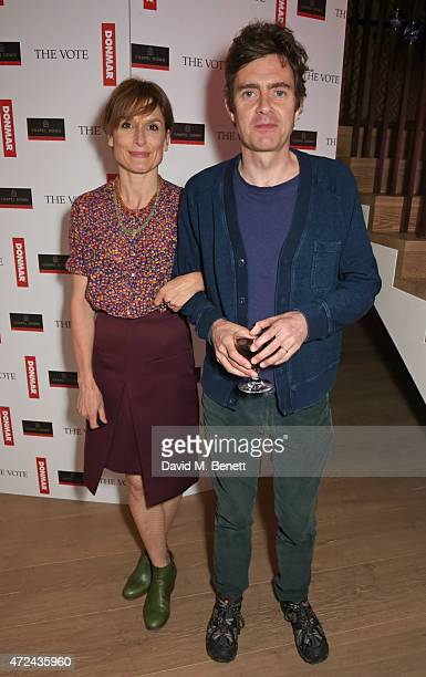 Amelia Bullmore and Paul Higgins attend a special screening of The Donmar Warehouse production of 'The Vote' at the Ham Yard Hotel generously...
