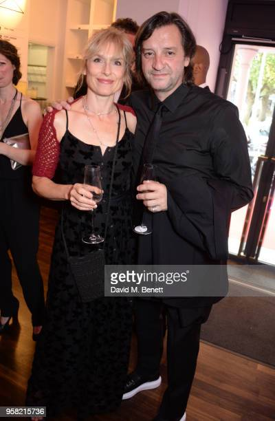 Amelia Bullmore and Rob Howell attend The Old Vic Bicentenary Ball to celebrate the theatre's 200th birthday at The Old Vic Theatre on May 13 2018 in...