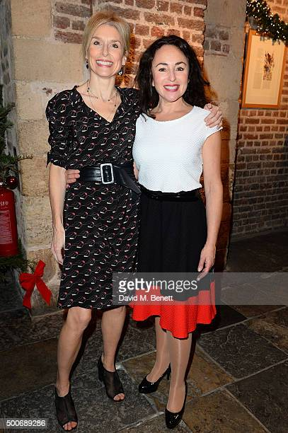 Amelia Bullmore and Samantha Spiro at the After Party for the press night performance of 'A Christmas Carol' at the Noel Coward Theatre on December 9...