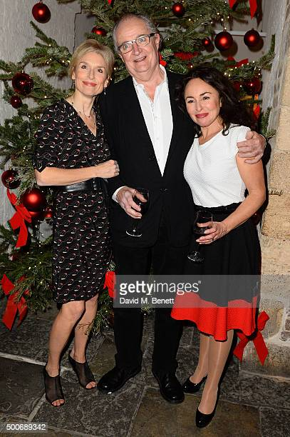 Amelia Bullmore Jim Broadbent and Samantha Spiro at the After Party for the press night performance of 'A Christmas Carol' at the Noel Coward Theatre...