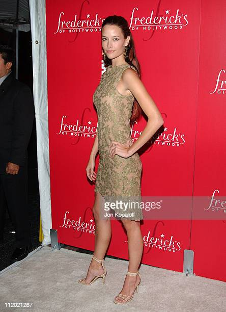 Amelia Cooke during 2nd Annual Frederick's of Hollywood Lingerie Art Auction Fashion Show at Hollywood Roosevelt Hotel in Hollywood California United...