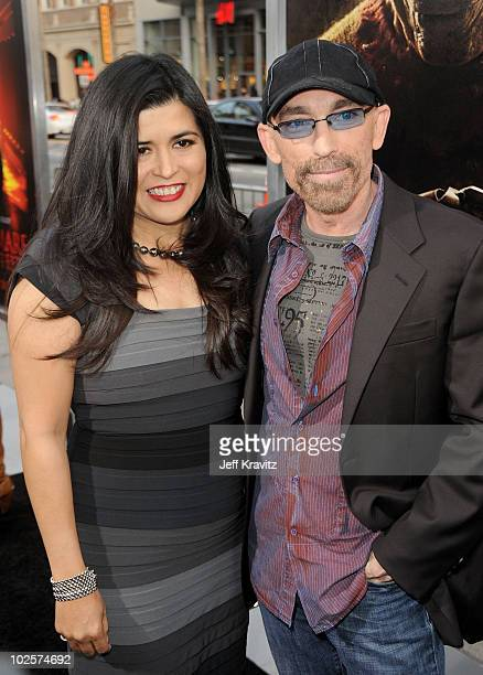Amelia Cruz and actor Jackie Earle Haley arrive at the Los Angeles premiere of A Nightmare On Elm Street held at Grauman's Chinese Theatre on April...