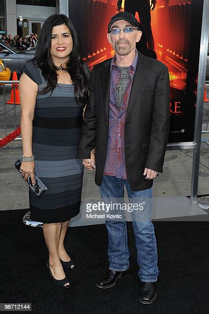 Amelia Cruz and actor Jackie Earle Haley attend the Los Angeles Premiere of 'A Nightmare On Elm Street' at Grauman's Chinese Theatre on April 27 2010...