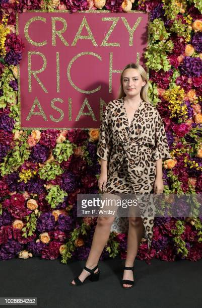 Amelia Dimoldenberg attends a special screening of 'Crazy Rich Asians' Hosted By MOBO at Dolby Preview Theatre on September 7 2018 in London England