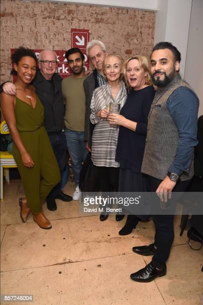 Amelia Donkor, Ian McDiarmid, Waleed Akhtar, Nicholas Le Prevost, Paula Wilcox, Joanne Pearce and Ameet Chana attend the press night after party for...