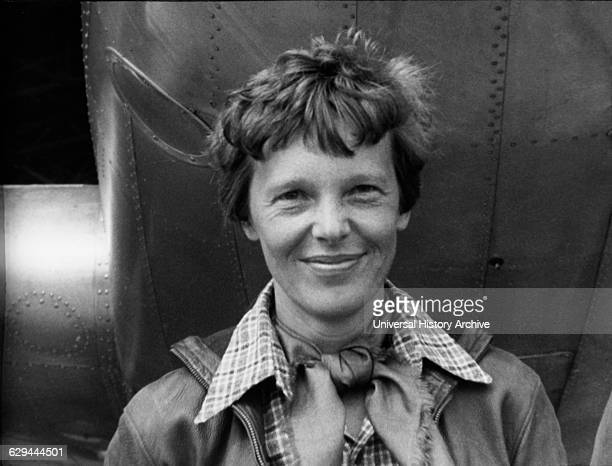 Amelia Earhart American Aviation Pioneer Portrait 1937