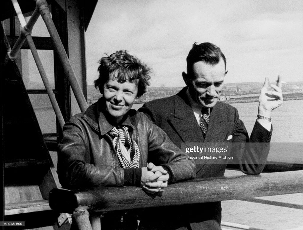Amelia Earhart, Fred Noonan Hawaii Airport : News Photo