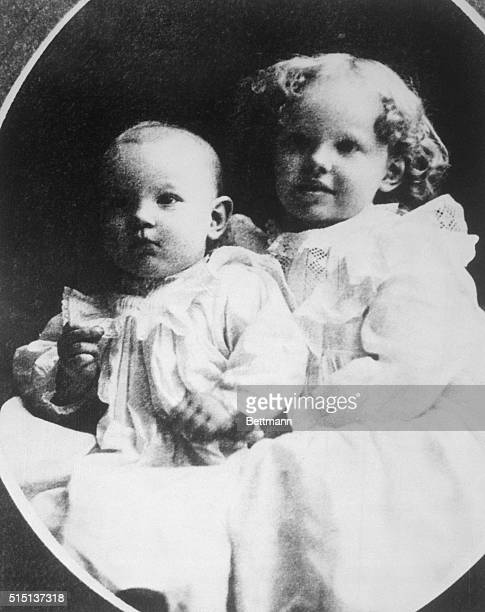 Amelia Earhart at three with her little sister Muriel