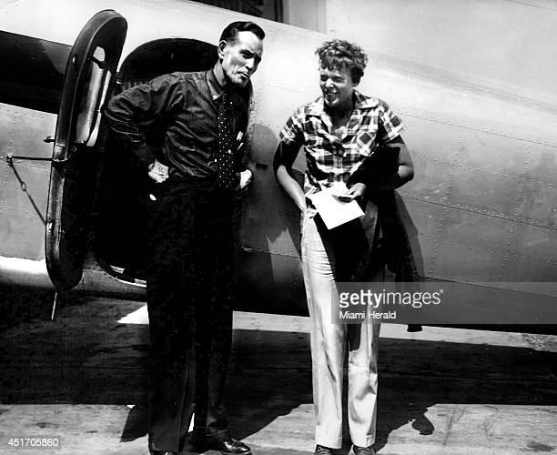 Amelia Earhart in a 1937 file image Researchers hope images from her departure from Miami Municipal Airport may hold clues to her disappearance...