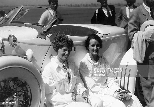 Amelia Earhart Putnam and Ruth Nichols at the National Air Races