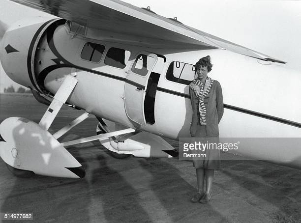 Amelia Earhart Sets New Woman's Record Miss Amelia Earhart first woman to fly a solo plane set a new unofficial speed record for flyers by putting...