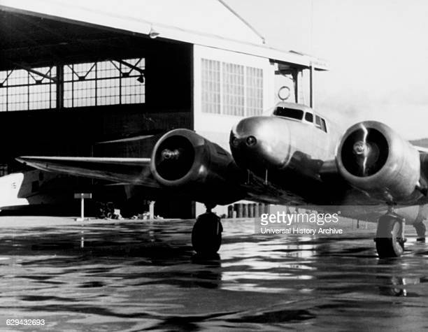 Amelia Earhart's Lockheed Electra Airplane Honolulu Airport Hawaii March 20 1937