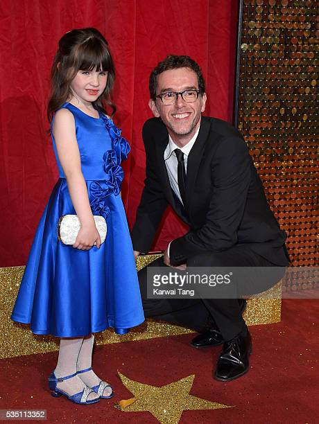 Amelia Flanagan and Mark Charnock arrive for the British Soap Awards 2016 at the Hackney Town Hall Assembly Rooms on May 28 2016 in London England