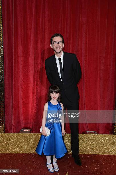 Amelia Flanagan and Mark Charnock attend the British Soap Awards 2016 at Hackney Empire on May 28 2016 in London England