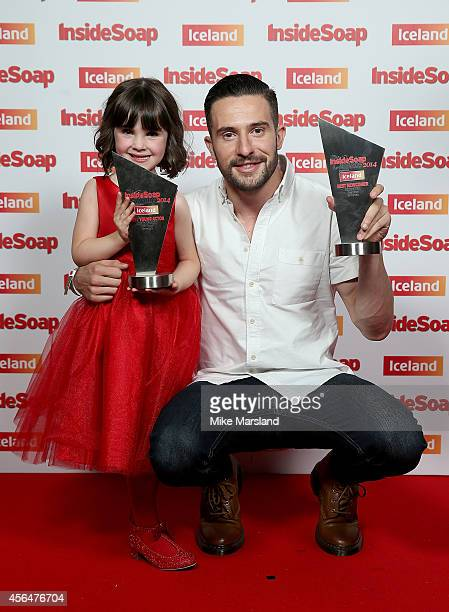 Amelia Flanagan and Michael Parr attend the Inside Soap Awards at Dstrkt on October 1 2014 in London England