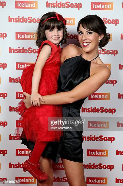 Amelia Flanagan and Verity Rushworth attend the Inside Soap Awards at Dstrkt on October 1 2014 in London England