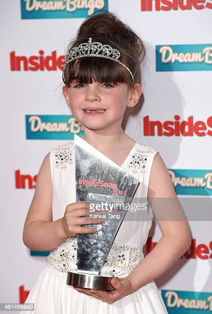 Amelia Flanagan attends the Inside Soap Awards at DSKTRT on October 5 2015 in London England