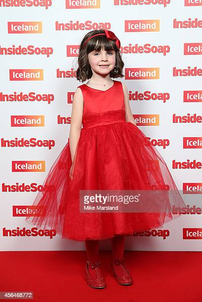 Amelia Flanagan attends the Inside Soap Awards at Dstrkt on October 1 2014 in London England