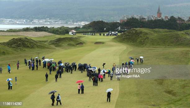 Amelia Garvey of New Zealand in action during the final match on day five of the RA Womens Amateur Championship at Royal County Down Golf Club on...