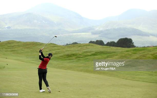 Amelia Garvey of New Zealand in action during the morning semi final matchplay on day five of the RA Womens Amateur Championship at Royal County Down...