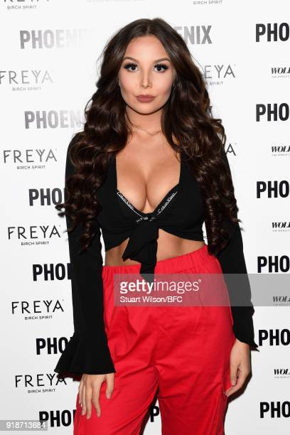 Amelia Goodman attends WOLF BADGER PHOENIX 'A Celebration Of Independence' during London Fashion Week February 2018 at 32 Dover Street on February 15...