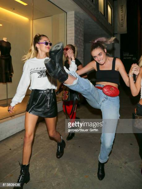 Amelia Gray Hamlin and Delilah Belle Hamlin are seen on July 12 2017 in Los Angeles California