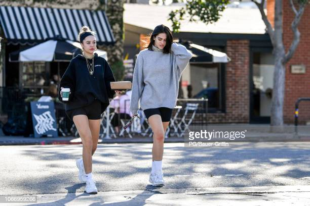 Amelia Gray Hamlin and Delilah Belle Hamlin are seen on November 30 2018 in Los Angeles California