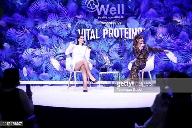 Amelia Gray Hamlin and Lisa Rinna speak onstage during Beautycon Festival Los Angeles 2019 at Los Angeles Convention Center on August 10 2019 in Los...