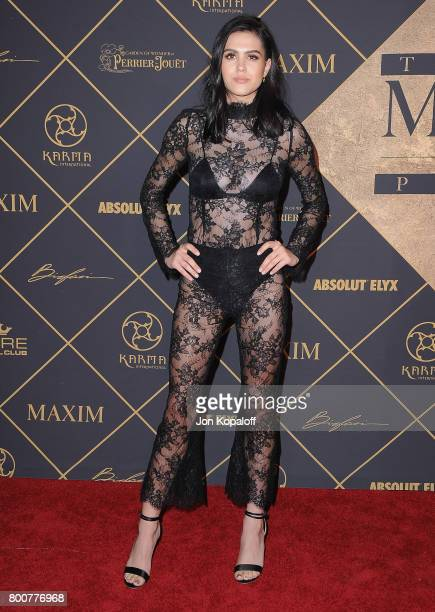 Amelia Gray Hamlin arrives at The 2017 MAXIM Hot 100 Party at Hollywood Palladium on June 24 2017 in Los Angeles California
