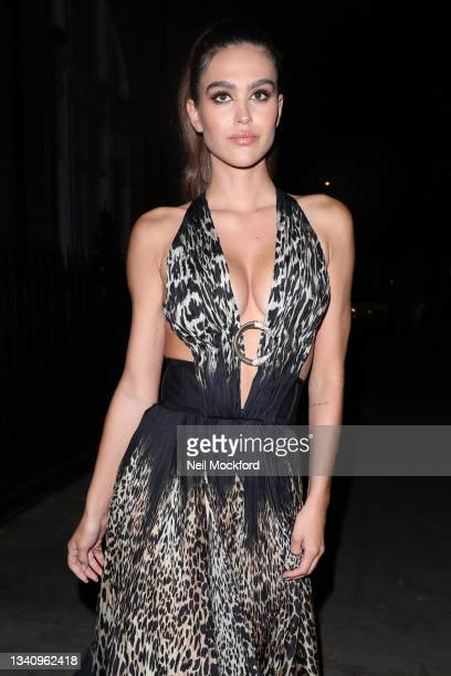 Amelia Gray Hamlin arrives at The Icon Ball during London Fashion Week September 2021 at The Landmark Hotel on September 17, 2021 in London, England.