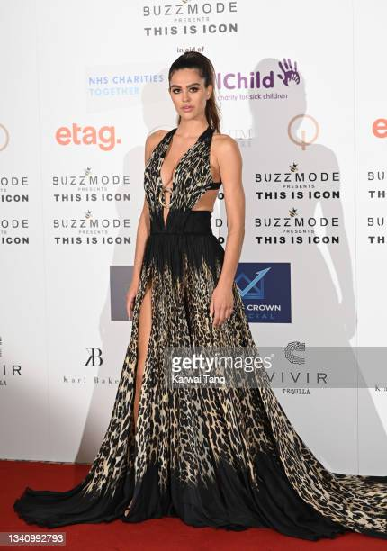 Amelia Gray Hamlin attends The Icon Ball 2021 during London Fashion Week September 2021 at The Landmark Hotel on September 17, 2021 in London,...