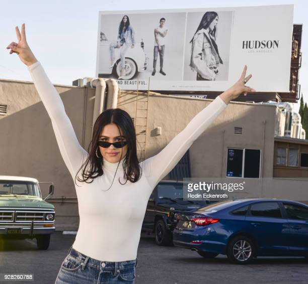 Amelia Gray Hamlin celebrates Hudson Jeans billboard unveiling on March 6 2018 in West Hollywood California