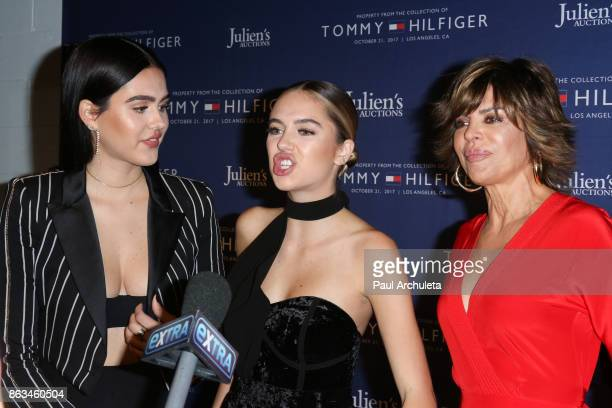 Amelia Gray Hamlin Delilah Belle Hamlin and Lisa Rinna attend the Tommy Hilfiger VIP reception and Julien's Auctions on October 19 2017 in Los...