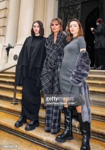 Amelia Gray Hamlin, Lisa Rinna and Delilah Belle Hamlin are seen on February 11, 2020 in New York City.