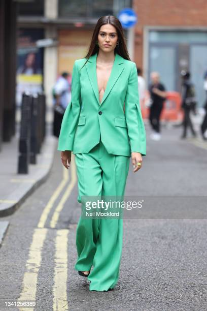 Amelia Gray Hamlin seen attending Roland Mouret at the Soho Hotel during London Fashion Week September 2021 on September 19, 2021 in London, England.