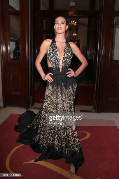 Amelia Gray Hamlin seen attending The Icon Ball at The Landmark Hotel on September 17, 2021 in London, England.