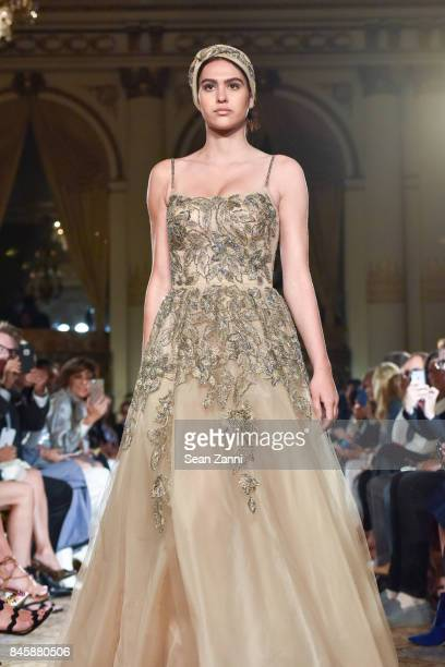 Amelia Gray Hamlin walks the runway at the Dennis Basso Spring/Summer 2018 Runway Show during New York Fashion Week at The Plaza Hotel on September...