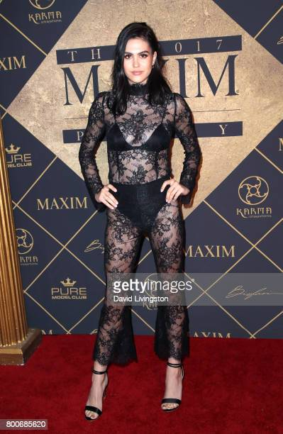 Amelia Hamlin attends The 2017 MAXIM Hot 100 Party produced by Karma International at The Hollywood Palladium in celebration of MAXIMÕs Hot 100 List...