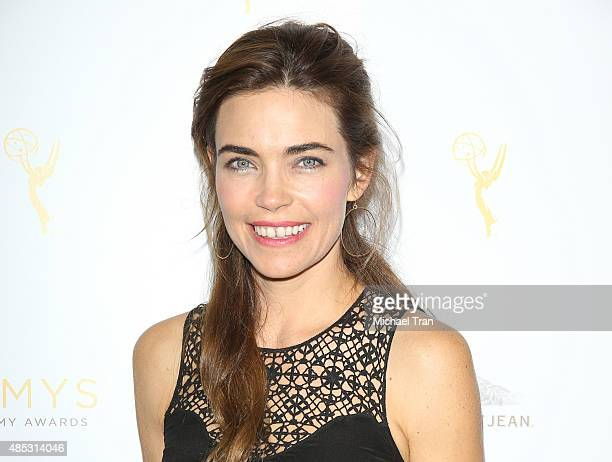 Amelia Heinle arrives at the Television Academy hosts cocktail reception to celebrate Daytime Programming Peer Group held at Montage Beverly Hills on...